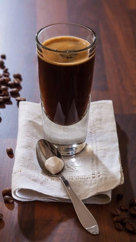 cafe americano como se hace
