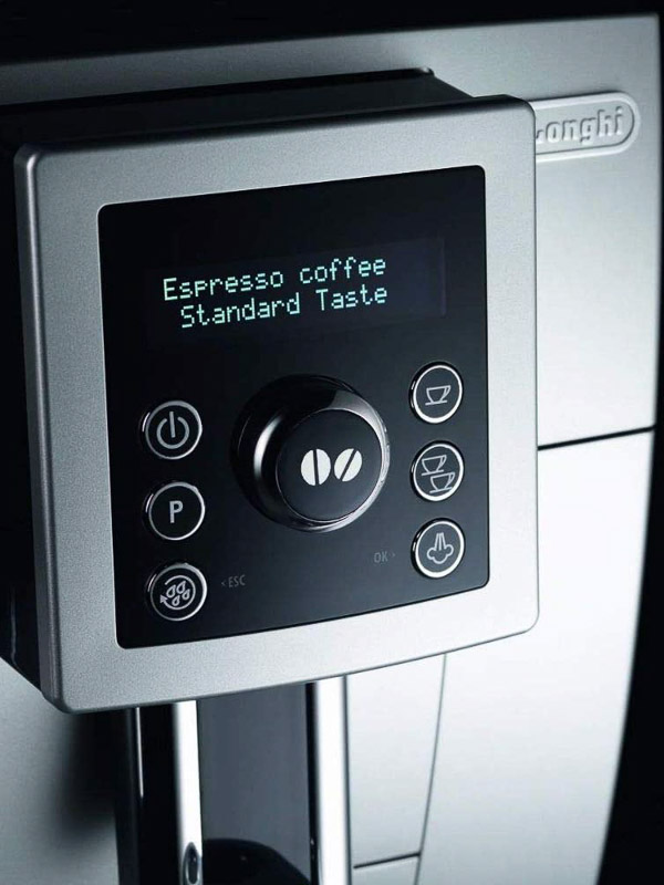 panel control cafetera automatica